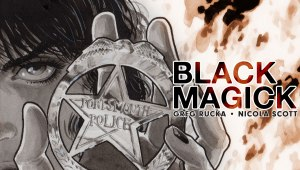 "Bestselling writer Greg Rucka and artist Nicola Scott team up to conjure an all-new ongoing series in BLACK MAGICK, set to launch just in time for Halloween. ""I'm calling it witch-noir, because it's not quite crime and it's not wholly about the supernatural, but the two are somehow dancing together,"" said Rucka. ""And with Nicola's art, it's turned into a beautiful dance, indeed. I've been waiting six years to share Rowan's story with the world, waiting even longer to get to work with Nicola on something creator-owned. This is that chance, and we're both seizing it!"" BLACK MAGICK follows Rowan Black, robbery/homicide detective in the city of Portsmouth, and the latest in a line of traditional witches who can trace their lineage—and memories—back to before the library of Alexandria burned. Rowan has carefully built a wall between her professional life and her faith, but now that barrier is cracking. If magick is the power to impose one's own will on reality, where does that leave the rest of us?"