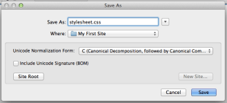 Basic Set Up: Save CSS file as 'stylesheet' in your site folder.