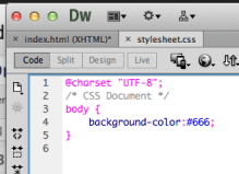 Basic Set Up: Inputting Your Background Colour