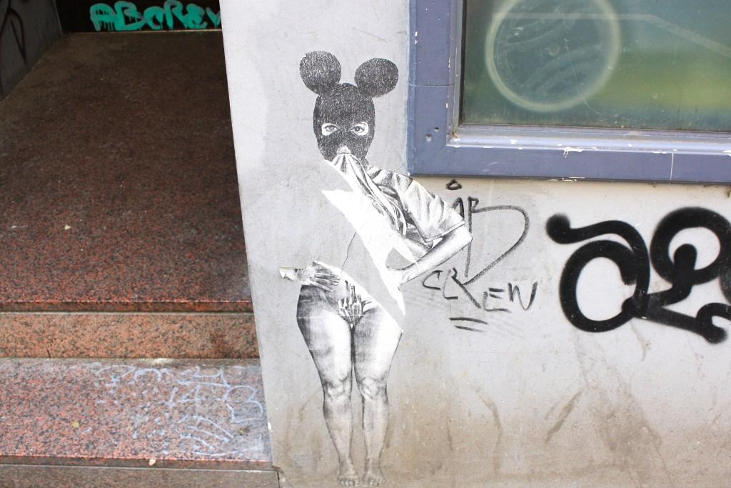 Graffitti on a wall in Hamburg, Germany
