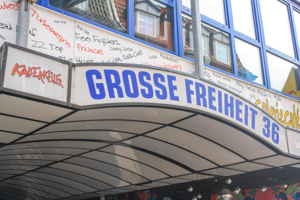 A photo of the Kaiserkeller on Grosse Freiheit in Hamburg, Germany