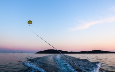 Sunset Parasailing in Cavtat, Croatia