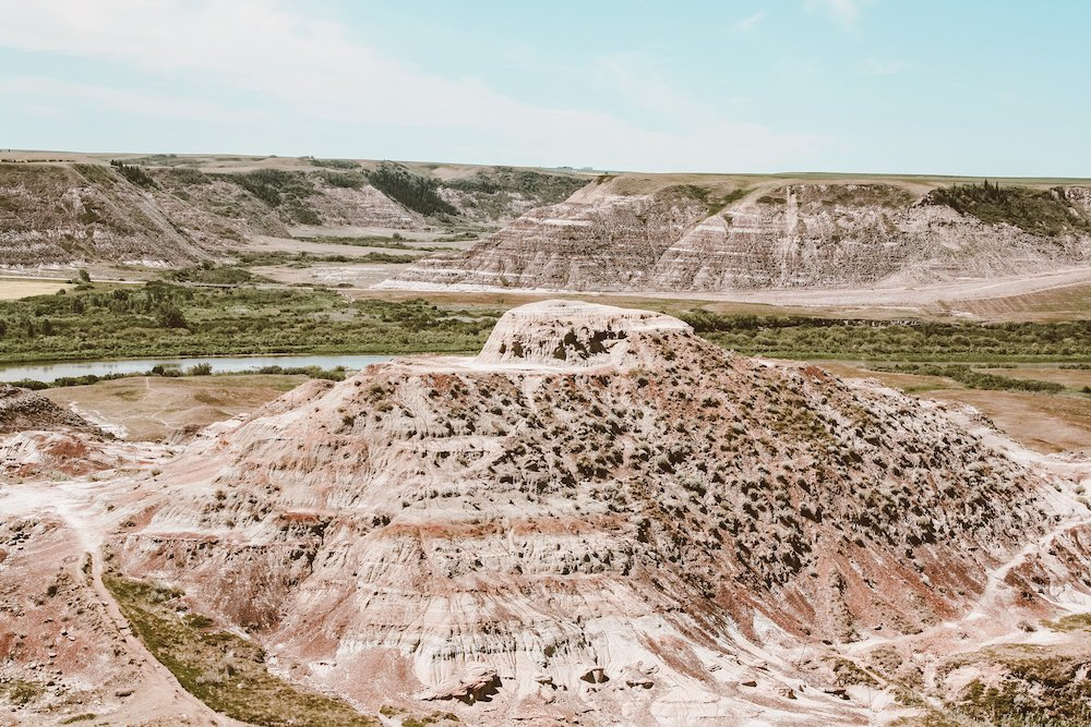 A view from the Dinosaur Trail in Drumheller, Alberta, Canada