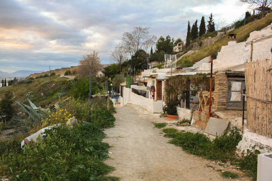 A view of the Sacromonte Caves in Granada, Spain