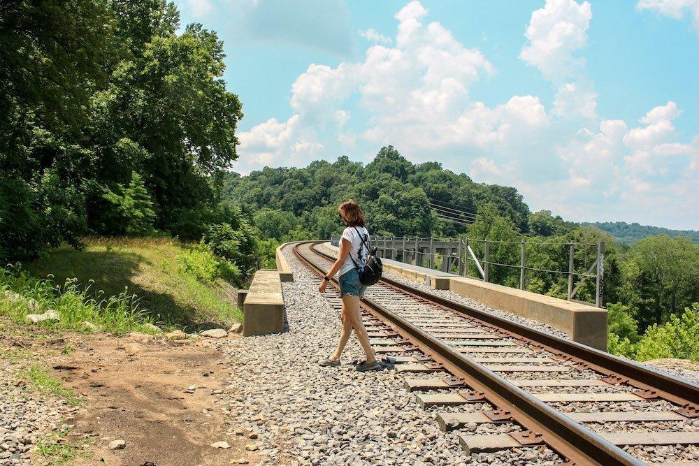 Hiking to Tioga Falls in Radcliff, Kentucky