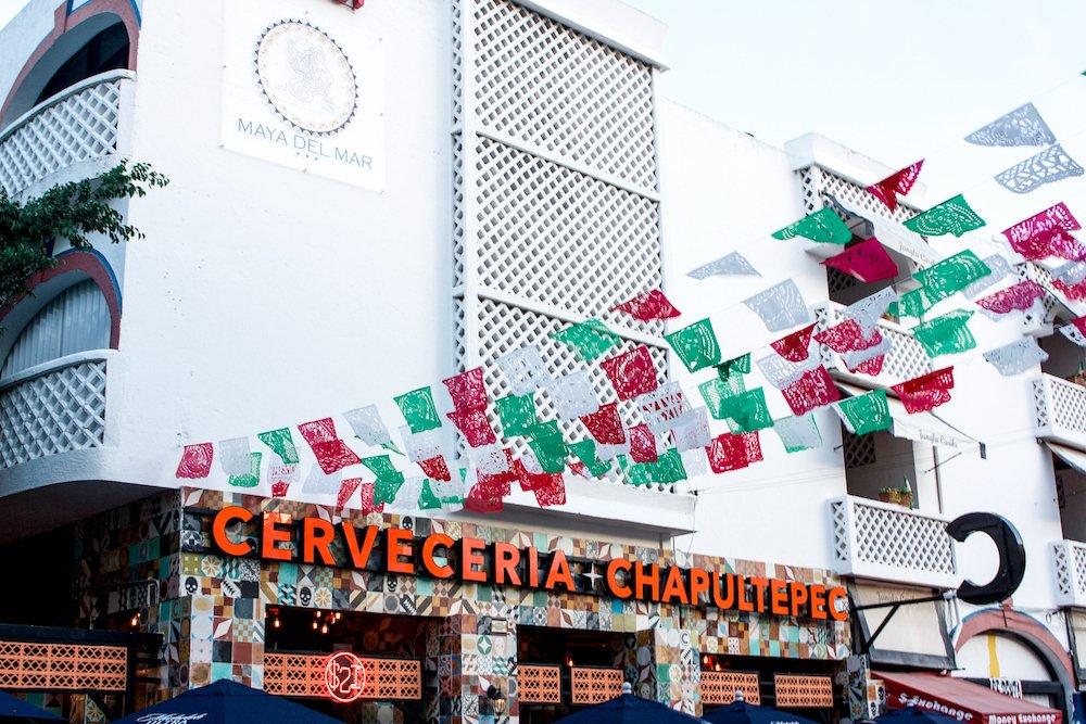 Cerveceria and Chapultepec restaurant in downtown playa del carmen