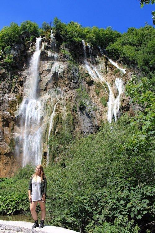 Waterfalls flow in Plitvice National Park, Croatia