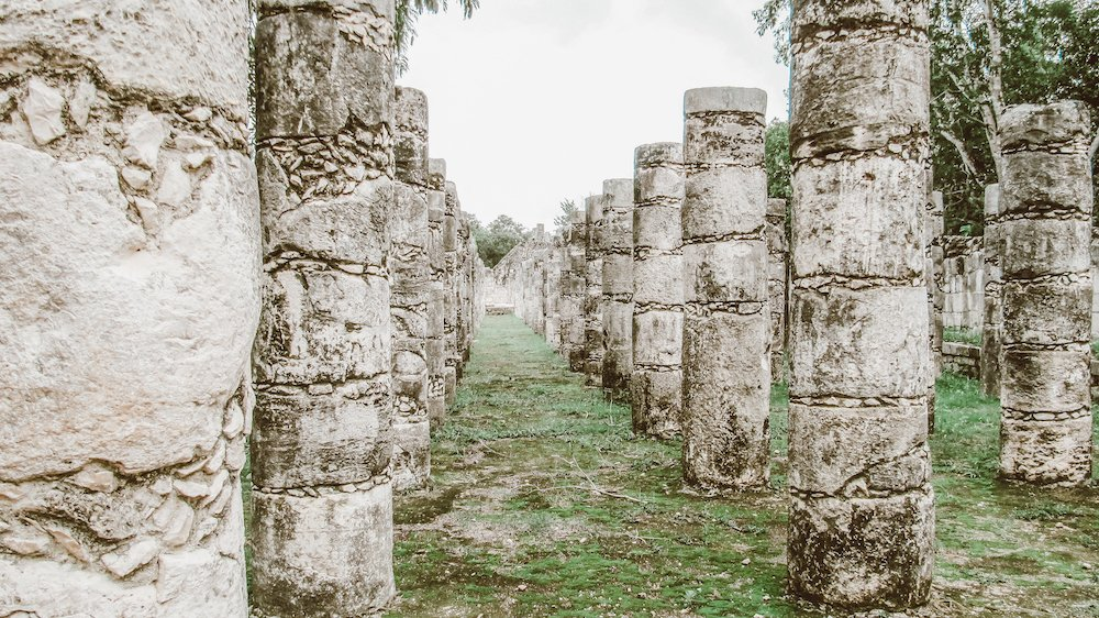 Hundreds of columns stand tall at Chichen Itza