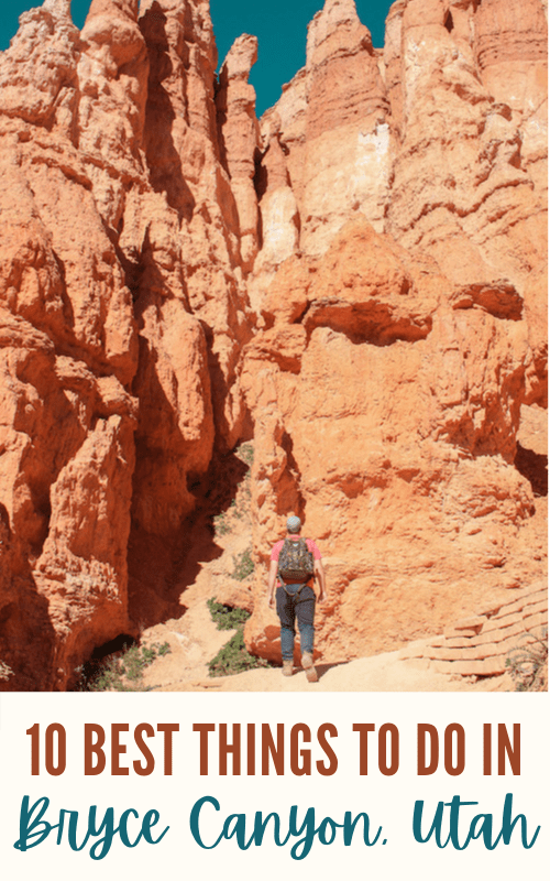 best things to do in bryce canyon pinterest pin