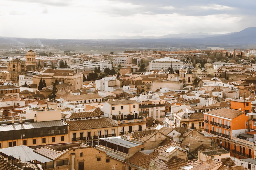 A view of downtown Granada Spain from above