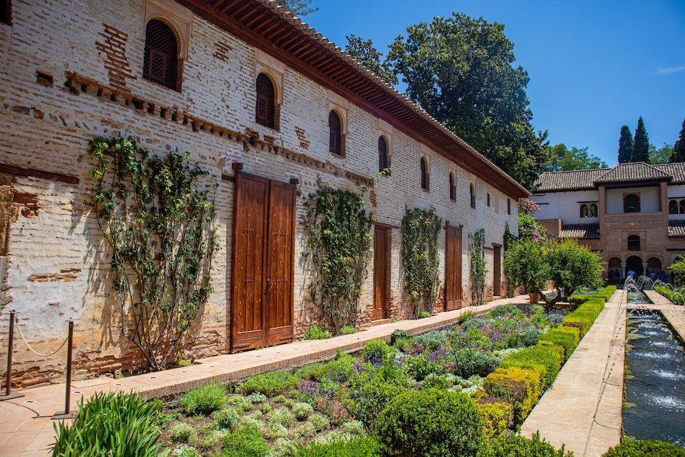 The generalife gardens in Granada Spain