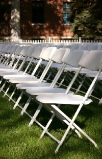 White Samsonite Wedding Chair - Taylor Rental Party Plus