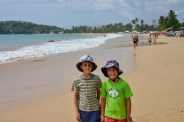 Boys at Mirissa Beach