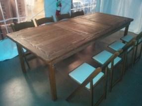8' Custom-built Farm Tables