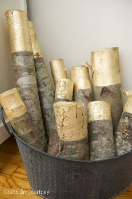 Gold Tipped Logs