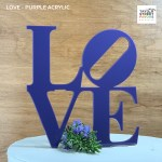 Purple Philly Love Cake Topper
