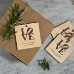 Philly Love Gift Tag - Rustic Gift Tag in Personalized Laser Etched Wood,