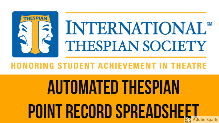 Thespian Point Record Spreadsheet
