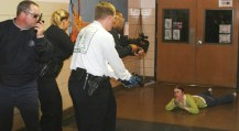 June 2007 - Police officers in an Active Shooter training scenario.