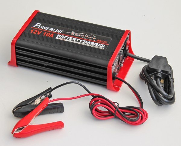12v 10a Powerline 7 Stage Automatic Battery Charger - 10