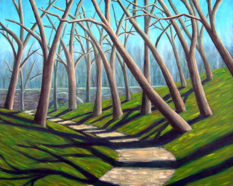 Central Park Solitude – Painting