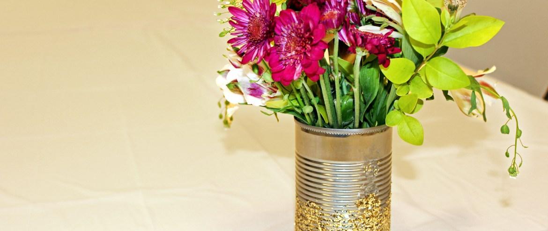 Easy DIY Glitter Vases