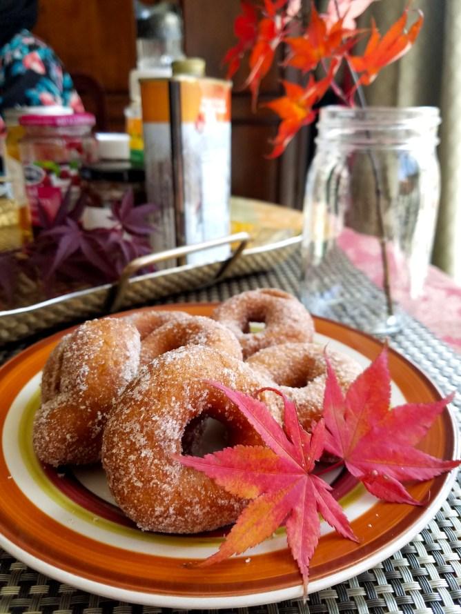 A fall brunch! - Donuts from Heyser Farm in Maryland