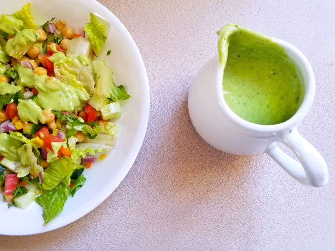 Creamy Avocado Cilantro Dressing - Super easy to make!