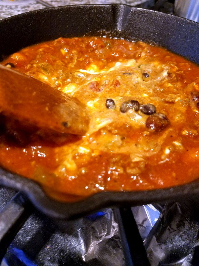 Skillet Chili Cheese Dip