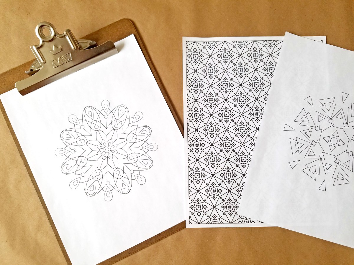 FREEbie Friday - Adult Coloring Page & Typographic Print!