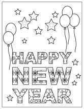 FREE Happy New Year Coloring Page For Kids!