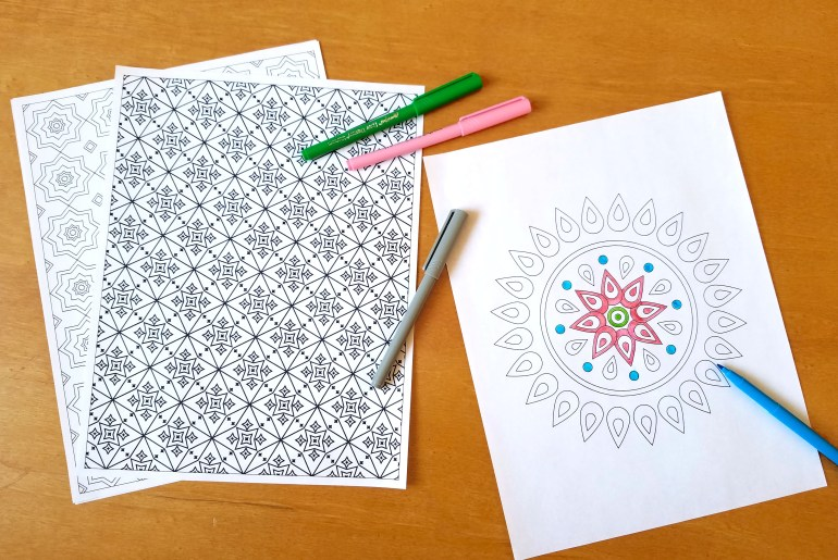 Free Adult Coloring Pages!