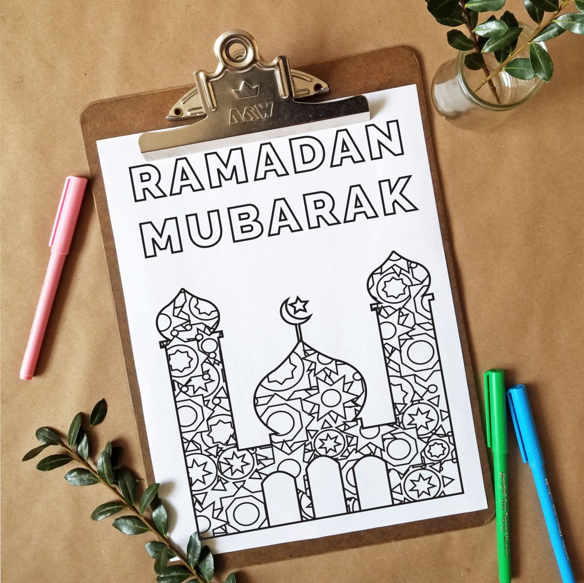 FREEbie Friday - Ramadan Inspired Coloring Page