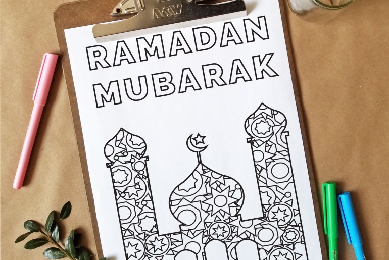Free Coloring Page - Ramadan Inspired