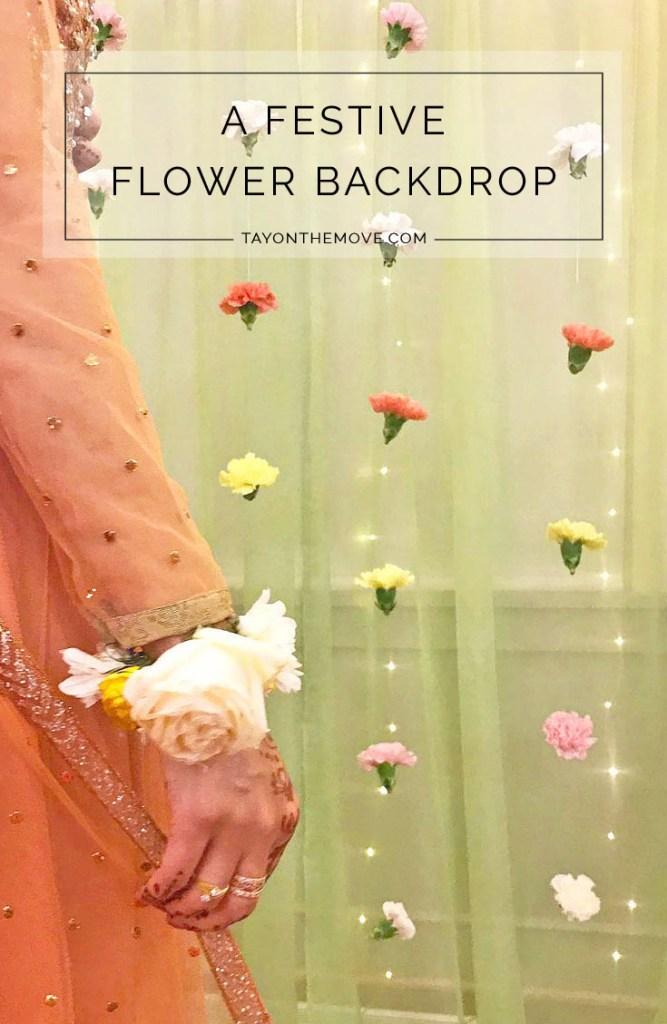 DIY Flower Back Drop