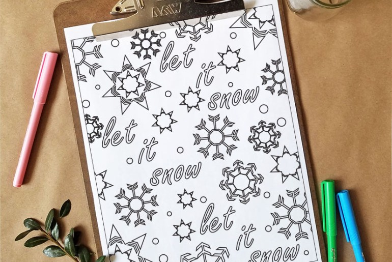 Free Snow Flakes Coloring Page