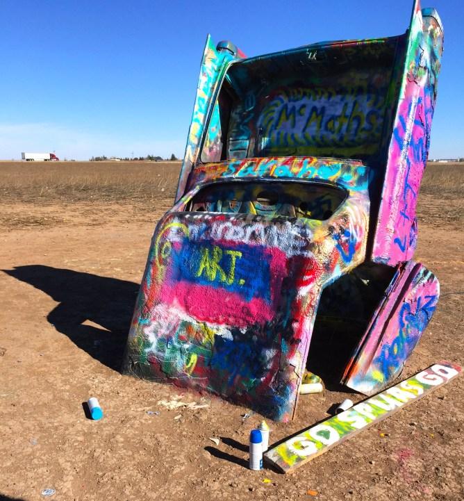Road Trip LA to Chicago Day 2- Cadillac Ranch, Amarillo, Texas
