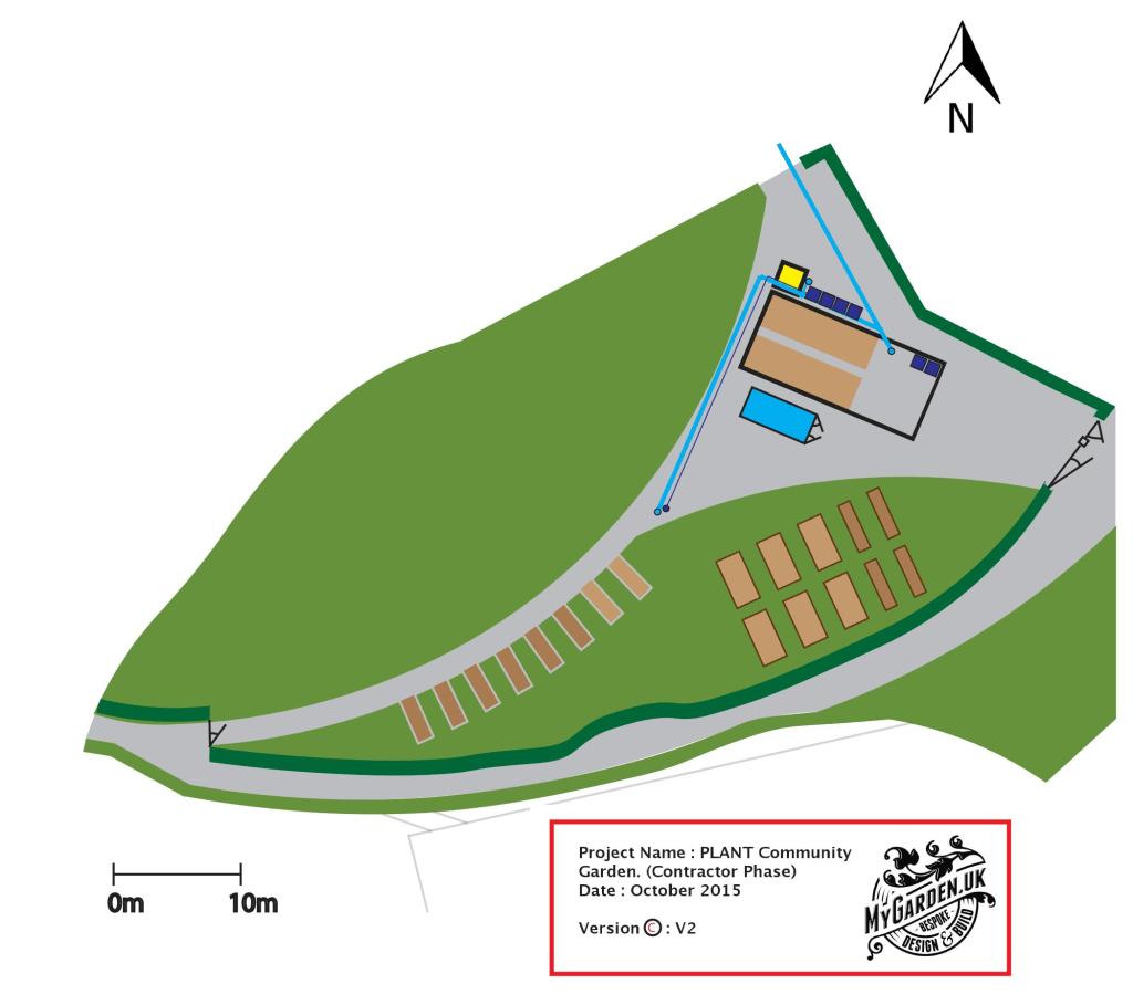 Plan for the garden site