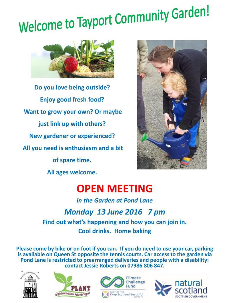 Open meeting poster