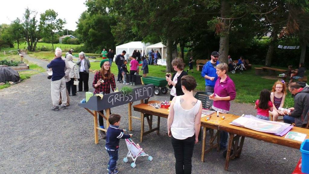 A photo of families taking part in Fun Day activities