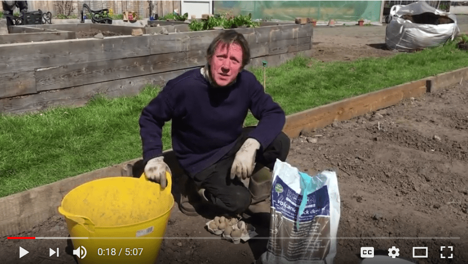 A screen capture of Soil improvement vlog