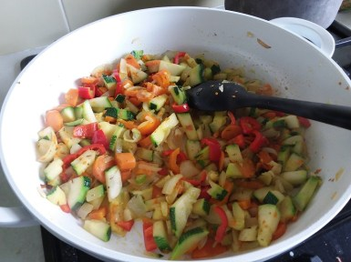 A photo of a courgette dish