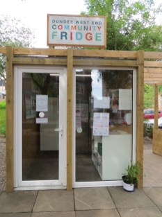Dundee community fridge entrance