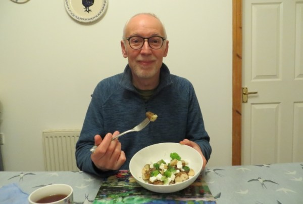 A photo of Fraser with Jerusalem Artichoke salad