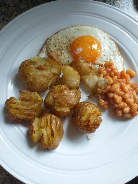 A photo of roast potato dish