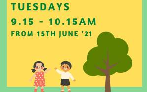 Child and Carer Meet Up and Play @ the grass beside the Forest Garden