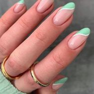 Summer Nail Designs You'll Probably Want To Wear _ Trendy Green Mint French Tips
