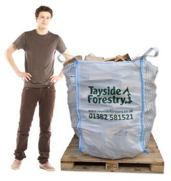Large bag of firewood logs