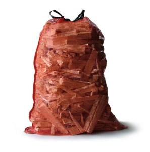 one netted bag of kindling