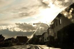 Straßenbokeh